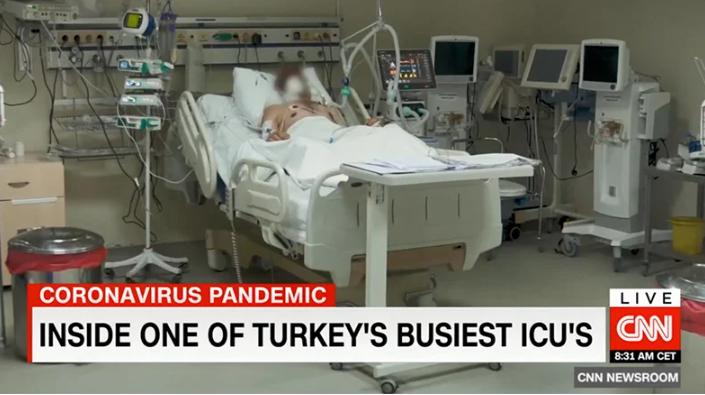 CNN International Ekibi Türkiye'nin En Kritik Yoğun Bakımın Bölümüne Girdi !