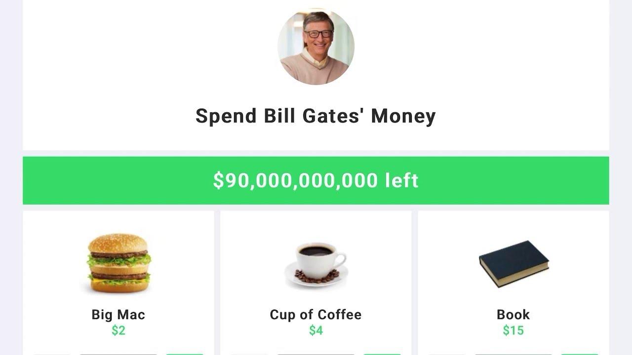 Bill Gates'in Parasını Harcayabiliceğiniz İlginç İnternet Sitesi