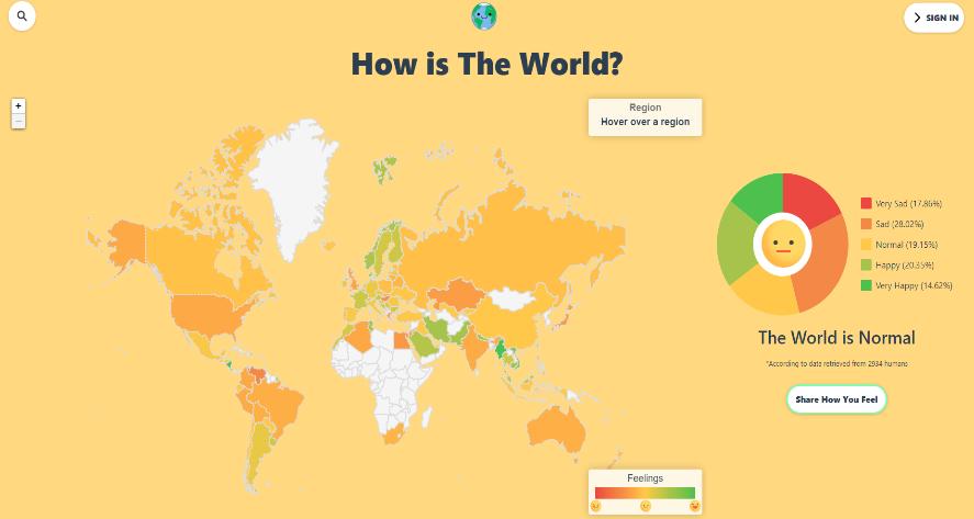 Dünyanın Neresinde İnsanların Ne Kadar Mutlu Olduğunu Gösteren Site